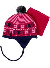 шапка c манишкой Peluche & Tartine F18 ACC 10 BF Berry