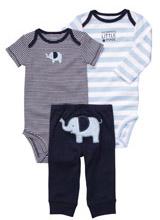 Набор (комплект) Carters слоник (2 боди, штаны)