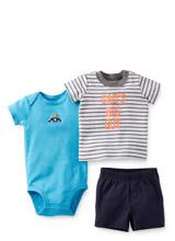 Набор (комплект) Carters (бодик, футболка, шорты)