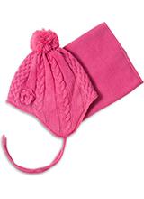 шапка c манишкой Peluche & Tartine F18 ACC 52 EF Begonia Pink