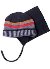 шапка c манишкой Peluche & Tartine F18 ACC 53 EG Black