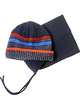 шапка c манишкой Peluche & Tartine F18 ACC 53 EG Navy