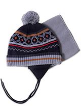 шапка c манишкой Peluche & Tartine F18 ACC 59 EG Black