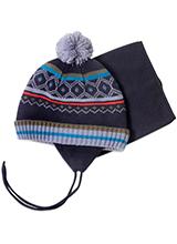 шапка c манишкой Peluche & Tartine F18 ACC 59 EG Deep Gray