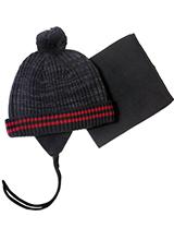 шапка c манишкой Peluche & Tartine F18 ACC 61 EG Deep Gray