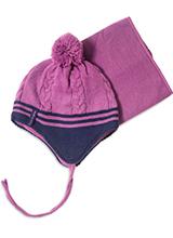 шапка c манишкой Peluche & Tartine F18 ACC 62 EF Dust Lilac