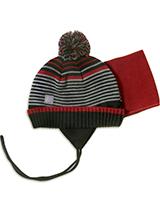 шапка c манишкой Peluche & Tartine F18 ACC 11 BG Deep Red