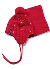 шапка+манишка  PELUCHE & TARTINE F17 ACC 68 EF Scarlet